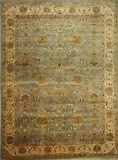 10 x 14 HAND KNOTTED LIGHT BLUE OUSHAK ORIENTAL RUG VEGETABLE DYES