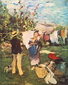 Szinyei Merse Pál (1845-1920)  - Clothes drying, 1869