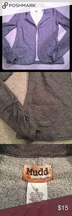 Mudd Blazer Never worn grey blazer in excellent condition - super comfortable sweatshirt type material Mudd Jackets & Coats Blazers