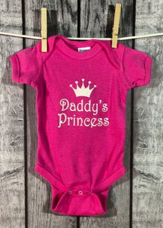 Daddy's Princess Baby Bodysuit by 312Baby on Etsy, $19.99