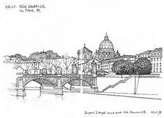 Rome, du pont S. Angelo 1998  by gerard michel, via Flickr