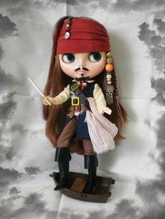 #Blythe as Captain Jack Sparrow  <3<3<3 / #dolls