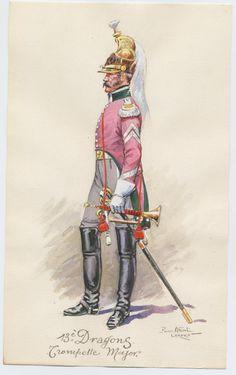 13e dragons trompette major par PA Leroux