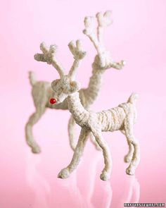 Pipe Cleaner Reindeers. By the way, be careful what you write in these descriptions. If you make idiotic mistakes they may show up in thousands of other pin boards and you can NEVER MAKE IT RIGHT.