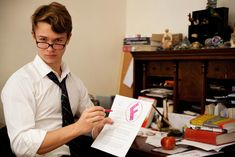 Ansel Elgort posed for a calendar to raise money when he was in high school