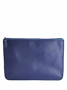 Graphic Image Suede-Lined Leather Zip Case Cheap