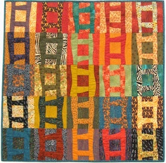 "Enchanted Art: ""Seams Unusual"" Quilt Exhibit--This is one of my favorite quilts--it hangs in my living room"