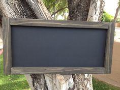 """Rustic MAGNETIC Chalkboard 12""""x24"""", Reclaimed Wood Rustic Wedding Chalkboard, Magnetic Chalkboard Menu Board, Chalkboard, Kitchen…"""