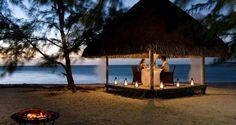 Hilton Bora Bora Nui Resort and Spa, French Polynesia - Motu Tapu, Romantic dinner on private island