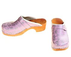 Clogs Silverbloom by berlin27clogs on Etsy, $49.00