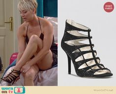 WornOnTV: Penny's black sequinned halter top and lace shorts on The Big Bang Theory Sexy Older Women, Classy Women, Bow Hunting Women, Kaley Cuoco Body, Kaley Cucco, Blond, Evening Sandals, Famous Stars, Fashion Tv
