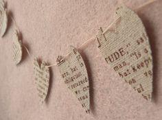 Pretty fabric heart garland