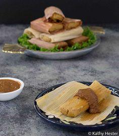 No Oil Vegan Instant Pot Tamales - Plant Based Instant Pot Jackfruit Plant, Vegan Tamales, Mexican Food Recipes, Vegan Recipes, Fried Beans, Tomato Pie, Healthy Food Blogs, Pumpkin Puree, Unique Recipes
