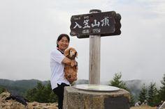 入笠山登山。chappyは高齢(この時18歳)でもうあまり歩けないので平地以外は殆どスリングに入れて登りました。ここは大好きな山です。