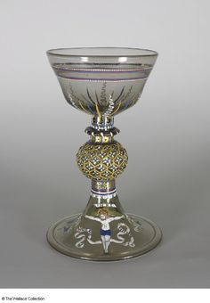 Goblet  Maker France (façon de Venise) mid-16th century Colourless glass