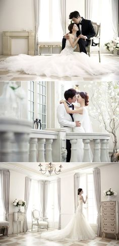 Romantic Korean pre-wedding photos