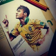 Neymar's drawing.