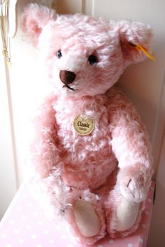 "A story is coming to mind...""as the pink teddy bear watched the snow falling ever so softly, she began to whisper a song that she had held in her heart""..."
