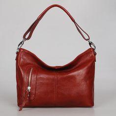 Leather hobo Max small burgundy---Adeleshop handmade Leather bag Messenger Diaper bag Shoulder bag Tote Handbag Hip bag Women. $135.00, via Etsy.