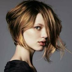 Short asymmetrical hair style #bob