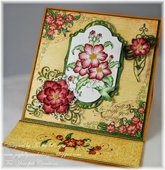 """""""With You Always"""" easel card made using Heartfelt Creations' Arianna Blooms Collection of stamps, designer papers and dies. Hand Made Greeting Cards, Making Greeting Cards, Heartfelt Creations Cards, Card Making Designs, Scrapbooking, Easel Cards, Card Tags, Cool Cards, Flower Cards"""