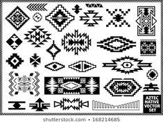 Image vectorielle de stock de Navajo Aztec Border Vector Illustration Page 259728050 Native American Patterns, Native American Symbols, Native American Design, Native American Indians, Native Symbols, Indian Symbols, Native Art, Motif Navajo, Navajo Pattern