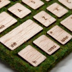 Engrain Tactile Keys add a little nature to your AppleWireless Keyboards - Engrain Tactile Keys are handcrafted wooden key cover stickers for your Apple wireless keyboard (both the compact and standard sized version with the numeric keypad). They are