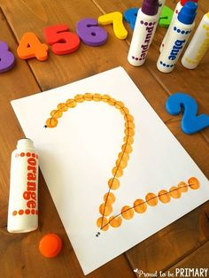 Use bingo dabbers to dot numbers as a hands-on number formation practice activity. This and other ideas for building number sense to 20 in this post. #mathforkids #firstgrade #kindergarten #numbersense #numberactivities