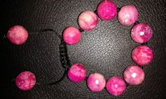 Chunky fuchsia pink faceted crazy lace agate by Druzyfloozy