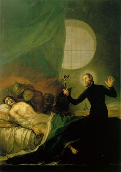 Francisco Goya -St Francis Borja at the Deathbed of an Impenitent, 1788. Oil on canvas