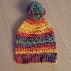 Crochet 5 star beanie