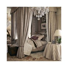 Dream Bedroom!  The Heiress Bed - Beds - Furniture - Products - Ralph Lauren Home - RalphLaurenHome.com found on Polyvore
