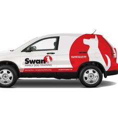 Check out swandogtraining's new car, truck or van wrap from Electric Car Concept, Electric Cars, Vehicle Signage, Vehicle Branding, Bugatti Cars, Bugatti Veyron, Van Car, Food Truck Design, Vans Logo