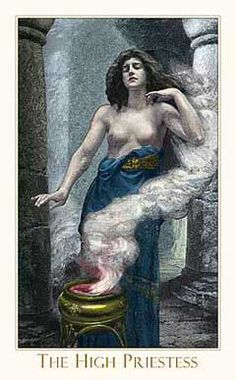 Victorian High Priestess Card