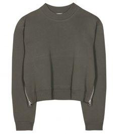 Acne Studios - Bird cropped cotton-blend sweatshirt