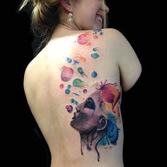 Bubbles Watercolour Tattoo