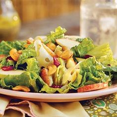 Our Favorite Easter Side Dishes | Apple-Pear Salad With Lemon-Poppy Seed Dressing | SouthernLiving.com