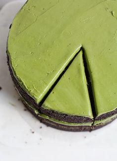 Triple-Layer Chocolate Matcha Cake | www.acozykitchen.com
