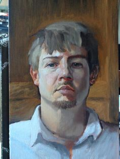 Today's Progress. Self Portrait by Dustin Sheline, via Behance