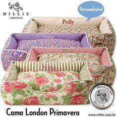 A estação é o Inverno, mas as estampas da primavera: CAMA LONDON PRIMAVERA MILLIE (Personalizável) Seu Pet merece! Visite: www.millie.com.br