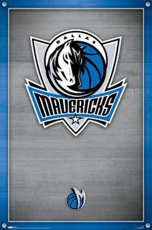 Dallas Mavericks Official Logo Poster - Costacos Sports