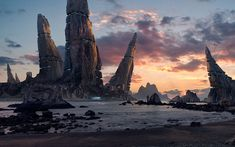"""Menhir Station"" -- #wallpaper by ""Carles Marsal"" from http://interfacelift.com -- A matte painting project made of different photos from all around the world. The main structures were created from the Dolomites in Switzerland.  Adobe Photoshop. -- Available as #wallpapers in any resolution at: http://interfacelift.com/wallpaper/details/4076/menhir_station.html"