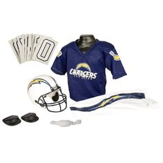 San Diego Chargers Youth NFL Deluxe Helmet and Uniform Set