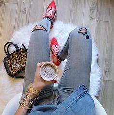 Enjoy a mid day #coffee break with #AEOSTYLE. #regram @misstarabelle.