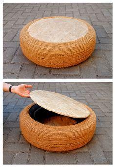 Upcycling: Möbel aus Autoreifen selber bauen   SoLebIch.de
