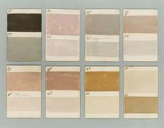 Hp - Very lovely and muted palette. Barnbarroch Colours - paint chips from 1807 Colour Schemes, Color Trends, Colour Palettes, Textures Patterns, Color Patterns, Wabi Sabi, Tadelakt, Color Studies, Colour Board