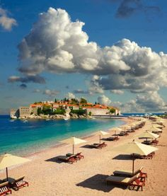 St. Stefan, Montenegro-Heard of it a lot, but, first time I have seen a photo of this particular beach!!!!!