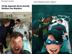 My appendix burst and my brothers are A-holes lol. Poor Jason - Batman Funny - Ideas of Batman Funny - Batfam. My appendix burst and my brothers are A-holes lol. Math Comics, Marvel Dc Comics, Batman Robin, Batman Batman, Batman Logo, Jason Batman, Batman Arkham, Batman Drawing, Batman Artwork