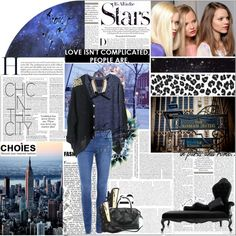 """It's all in the stars"" by theretrodress ❤ liked on Polyvore"