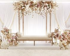 wedding design / furniture rentals White wedding with a minimalist touch of gold and blush pink isn't it stunning and gorgeous 9987874663 reception backdrop wedding design / furniture rentals Wedding Stage Decorations, Wedding Backdrop Design, Wedding Stage Design, Wedding Reception Backdrop, Backdrop Decorations, Wedding Designs, Backdrops, Wedding Mandap, Wedding Receptions